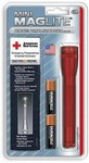 Mag Instrument 2A03H Mini Maglite Red W/Hlstr Pack