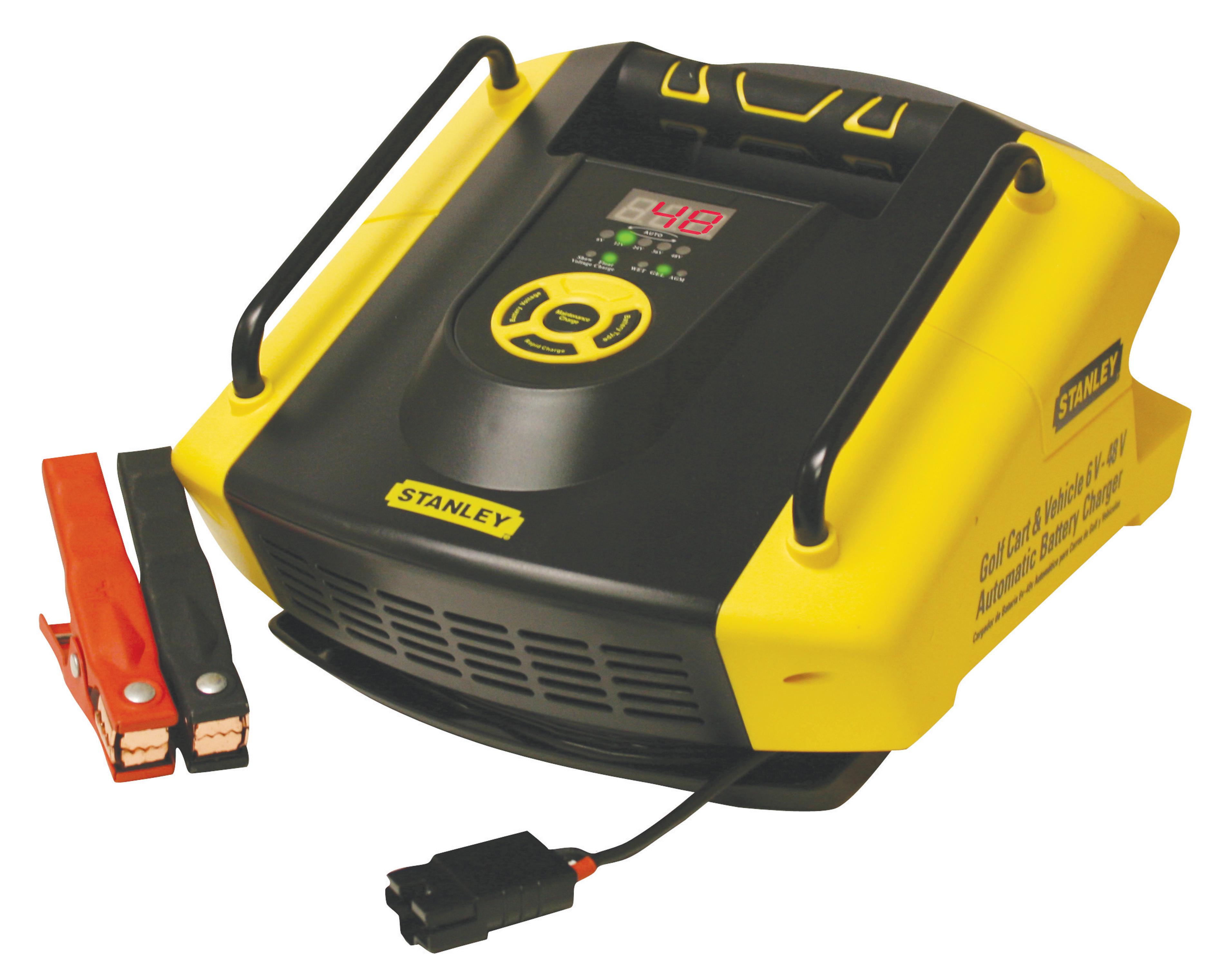stanley gbcpro multi volt battery charger 6 volt to 48 volt golf cart and vehicles. Black Bedroom Furniture Sets. Home Design Ideas