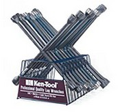 Ken-Tool 35648 10 Pc Lug Wrench Asst with Rack