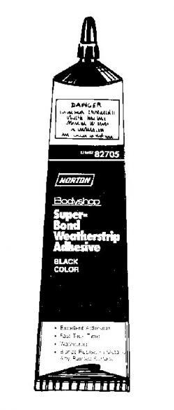 Norton 82706 Super Bond Weatherstrip Adhesive Amber