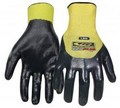 Ringers Gloves 023-11 Nitrile Plus 3/4 Dip Glove Yellow/Black XL