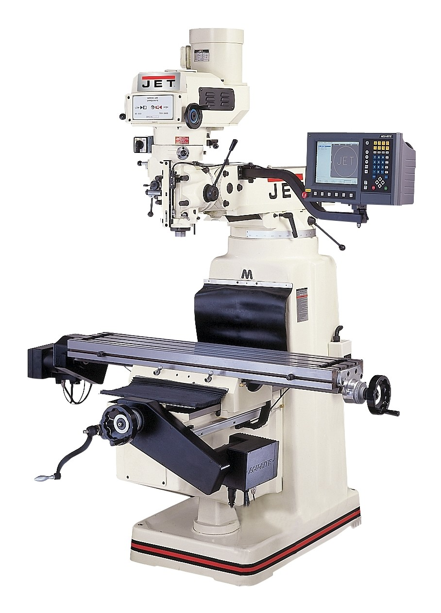 Buy Rite Auto >> Jet WC690918 JTM-4VS Milling Machine with ACU-RITE 3-axis CNC Installed