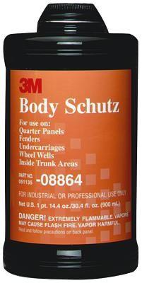 3m 8864 Body Schutz Rubberized Coating Black Quart