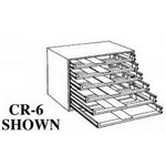 W & E Sales CR-6 6-Drawer Cabinet Rack