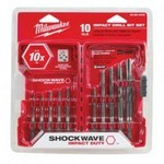 Milwaukee Tool 48-89-4445 Shockwave Hex Drill Bit 10Pc Set