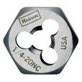"Hanson 7729 Re-threading Hexagon Fractional Dies Right & Left-hand (HCS) - 5/16"" - 24 NF - Left-hand Bulk"