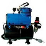Paasche Airbrush D3000R Oil-Less Diaphragm Air Compressor with Regulator
