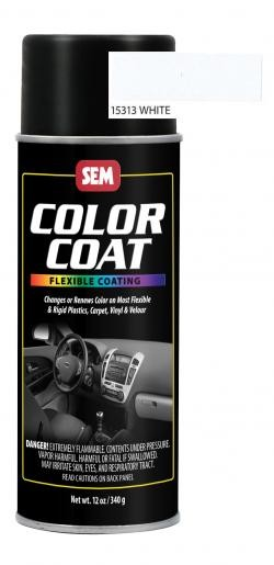 SEM Paints 15313 Color Coat Aerosol - White