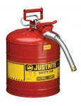 Justrite Llc 7250130 Safety Can, 5 Gal. Red, Type Ii, W/1