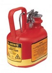 Justrite Llc 14065 Safety Can,Oval Poly, 0.5 Gal. Red, Type