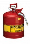 Justrite Llc 7250120 Safety Can, 5 Gal. Red, Type Ii W/Hose