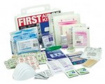 S A S  Safety 6025W 25 Man First Aid Kit W/ White Plstc Cs