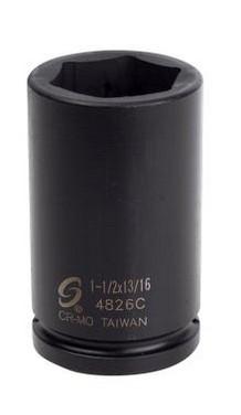 "Sunex Tools 4826C 3//4/"" Drive Budd Wheel Impact Socket 1-1//2/"" x 13//16/"""