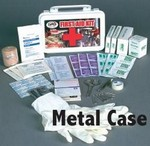 SAS Safety 6010-01 10-Person First-Aid Kit - Metal Box