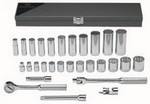 Wright Tool 340 3/8 inch dr 12 pt 29 pc Standard/Deep Socket Set