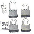 AES Industries 55052 High Security Padlocks 1-1/2 4pc Set