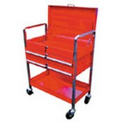 American Forge 952 Tubular Frame Tool Cart w/ Locking Lid and Drawers