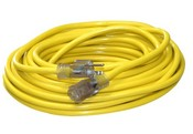 Bayco SL-753L Sngl Tap 14/3 Ext Cord W/Lighted End
