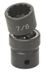 """Grey Pneumatic 2116U 1//2/"""" Drive x 1//2/"""" Standard Universal 12 Point Socket"""