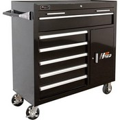 Homak  BK04041062 41in. 6-Drawer Roller Tool Cabinet with 2 Compartment Drawers - Black, 41 15/16in.W x 22 7/8in.D x 42 1/4in.H