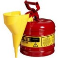 Justrite 7120110 Safety Cans 2G/7.5L Safe Can Red W/Funnel