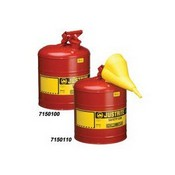 Justrite 7150100 5 Gallon Safety Type Red Can