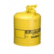 Justrite Llc 7150200 Yellow Type I Safety Can, 5 Gallon