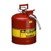 Justrite 7225120 AccuFlow Type II Galvanized Steel Safety Can