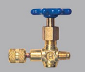 Robinair 40380 1/4 MFL X 1/4 FFL Coupler Hand Wheel Shut-Off Valve