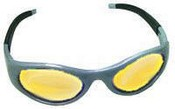 SAS Safety 5186 Stingers High Impact Eyewear - Silver/Yellow