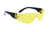 SAS Safety 5341 Crickets Black Temple Yellow Lens