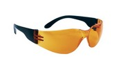 SAS Safety 5342 Crickets Black Temple Orange Lens