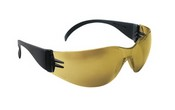 SAS Safety 5344 Gold Mirror Lens, Black Temple w Polybag