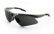 SAS Safety 540-0101 Diamondback Safety Silver Frame W/Shade Lens