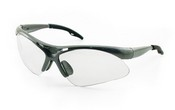 SAS Safety 540-0110 DiamonDiamondbackack Silver Frame Clear Lens