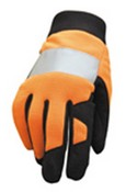 SAS Safety 6363 Orange Reflective Gloves Large