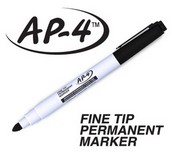 U Mark 10541 AP-4 Fine Tip Permanent Marker (Black)