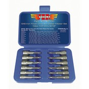 VIM Tools NS100 SAE Power Drive Nut Setter Set with Magnetic and Hollow Point Drivers - 12-Pc