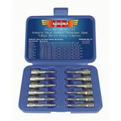 VIM Tools NSM100 Metric Power Drive Nut Setter Set with Magnetic and Hollow Point Drivers - 12-Pc