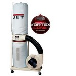 Jet WC710701K DC-1200VX-BK1 Vortex Dust Collector, 2HP 1PH 230V, 30-Micron Bag Filter Kit