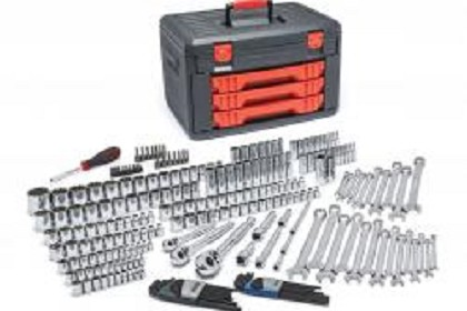 "Gearwrench 80942 239 Pc. 1/4"", 3/8"", 1/2"" Drive Metric & SAE Socket and Ratchet Set with Storage Box"