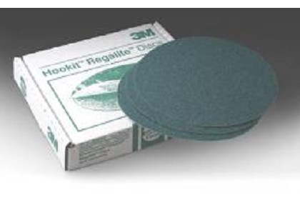 3M 0524 Green Corps Hookit Disc, 8 inch, 40 Grit