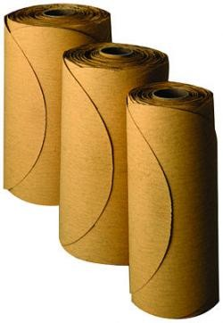 3M 1355 Stikit Gold Film Disc Roll, 6 inch, 320 Grit