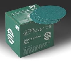 3M 1545 Green Corps Stikit Production Disc, 5 inch, 40 Grit