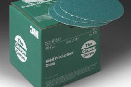 3M 1547 Green Corps Stikit Production Disc, 6 inch, 40 Grit