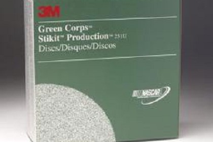 3M 1550 Green Corps Stikit Production Disc, 8 inch, 40 Grit