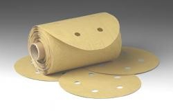 3M 1625 Stikit Gold Paper Dust Free Disc Roll, 5 inch, 150 Grit