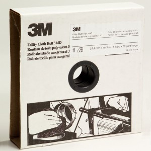 3M 19782 Utility Cloth Roll 314D, 1 inch x 20 yard, P80 Grit