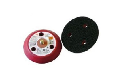 3M 20350 Hookit Clean Sanding Low Profile Disc Pad, 3 inch x 1/2 inch x 1/4-20 External 3 Holes Red Foam