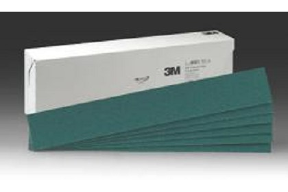 3M 2221 Green Corps Production Resin File Sheet, 40 Grade, 2 3/4 in x 17 1/2 in